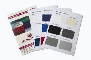 Musterkarte - RAL-Farben für Bühnenstoffe