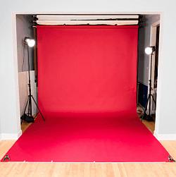 Molton bügeln - glatter Studiohintergrund