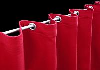 Vorhang mit Kräuselband oder Ösen - geöster Vorhang