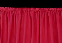 Theatervorhang, ausgestattet mit Kräuselband