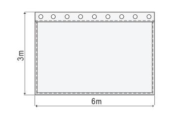 greenbox 300g//m² Breite 3m 3,76 EUR//m² B1 Bühnen – Molton Meterware