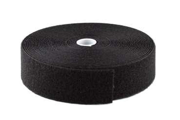 flauschband veloursband selbstklebend schwarz 20 mm breit rolle 25 m molton markt. Black Bedroom Furniture Sets. Home Design Ideas